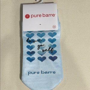 Pure Barre Love Yo Self Sticky Socks